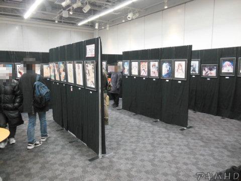 展示されていたイラストは過去に行われたイラスト展に展示されていた中から抜粋今回新しく展示されたイラストもあった